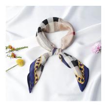 16MM Custom logo made silk scarf