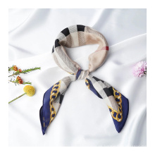 Bufanda de seda hecha con logotipo personalizado de 16 mm
