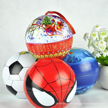 Caixa de lata de bola pequena / Caixa de lata de bola de doces / Caixa de lata de bola
