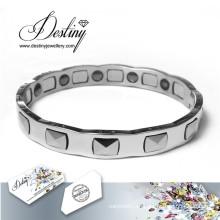 Destino joyas cristales de Swarovski pulsera de titanio