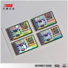 УФ печать Сота Голографическая наклейка с QR-код