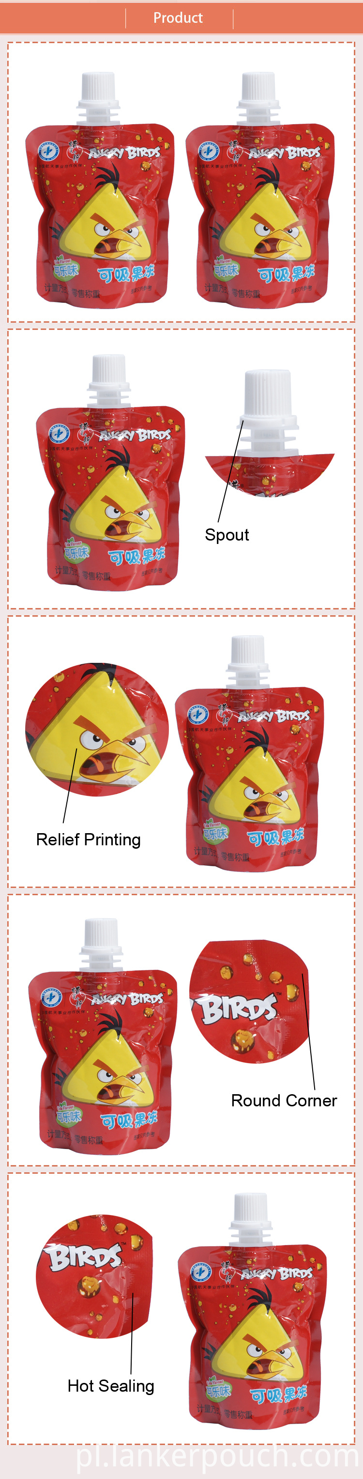 Fruit Packaging Bag Pouches Plastic Juice Pouch