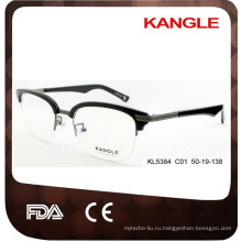 2017 мужчин классический дизайнер ацетат и металл оптические очки & оправы комбинированные очки