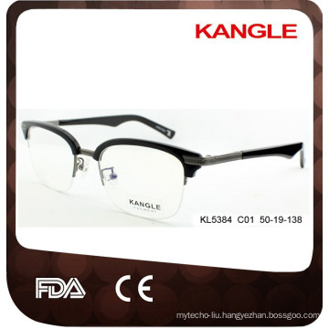 2017 Men Classic Designer acetate & metal optical glasses & eyeglasses combination eyewear