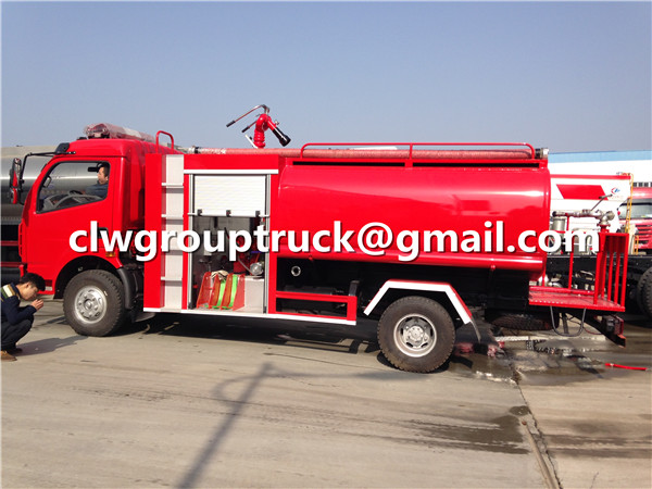 Water Tank Foam Fire Fighting Truck