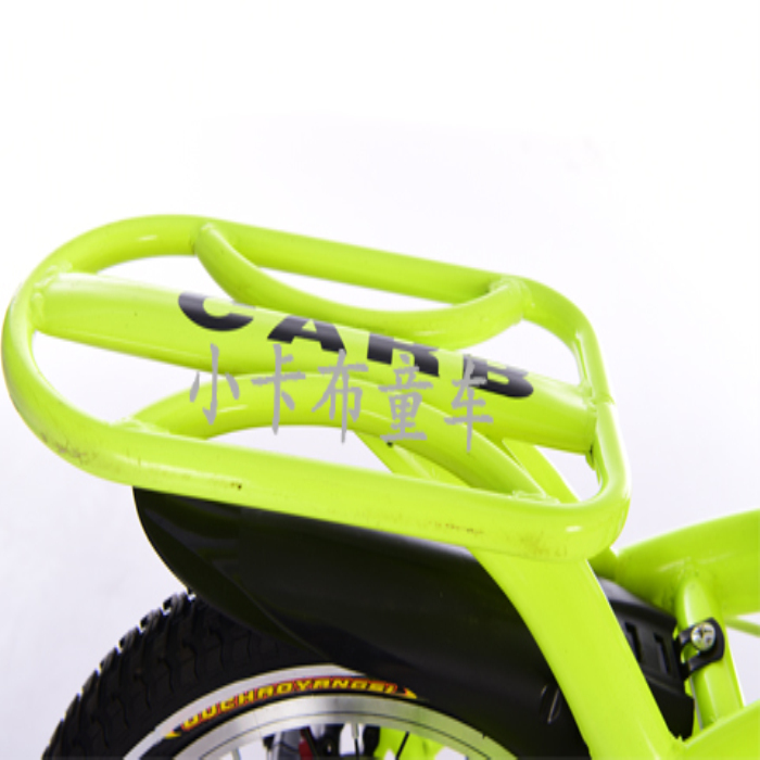green folding bike of children to exercise