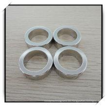 Imán de anillo permanente/NdFeB del neodimio con la galjanoplastia de níquel