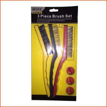 9 Inch Plastic Handle Wire Set Brush (YY-574)