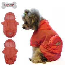 Skin wear dog raincoat UV resistant dog camo jacket cloth