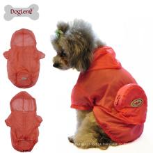 Pele desgaste cão capa de chuva UV resistente cão camo jaqueta pano