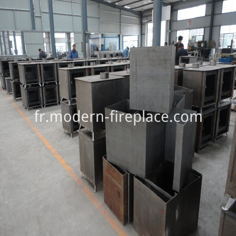 Wood Burning Contemporary Stoves Production