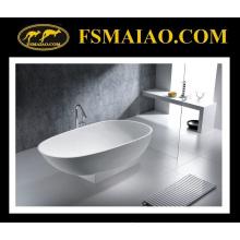Модное дизайн матовая/Глянцевая Белая твердая поверхность/каменная Смолаа ванной (БС-8616)