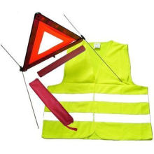 2-in-1 Traffic Set, Include High-Visibility Warning Safety Vest and Triangle