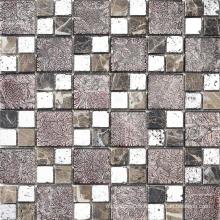 Mosaico al por mayor del vidrio cristalino del espejo del color de la mezcla para el cuarto de baño