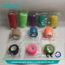 Colored Cotton Elastic  Self-adhesive Bandage