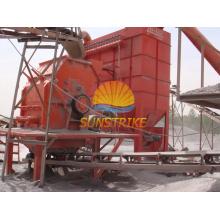 Stein, der Betriebsstandort in China zerquetscht