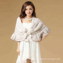 China wholesale winter classical real mink fur shawl
