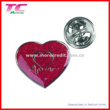 Custom Red Enamel Mothers Day Souvenir Pin Badge