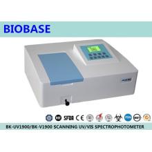 Biobase Espectrofotómetro UV / Visado de haz simple / doble de laboratorio