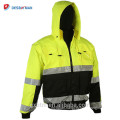 ANSI Class 3 Rflective High Visibility Winter Safety Jacket Workwear Wholesale Hi Vis Hoodie Work Clothes