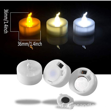 Lilin flameless terbuka. Tealight candle flameless