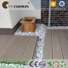 Pátio ao ar livre, resistente à água, composto, madeira, prancha