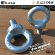 Boulon d'oeil galvanisé par acier au carbone M10 et matériel DIN580 d'écrou