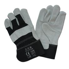 Full Palm Cowhide Split Leder Schutzhand Handschuh mit Ce En388
