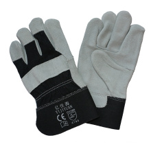 Full Palm Cowhide Split Leather Protective Hand Work Glove with Ce En388