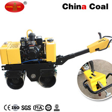 Double Drum Walk Behind Soil Hydraulic Vibratory Steel Roller Compactor