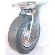 Roulette PU pivotante (Gris)