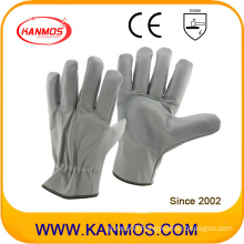 Light Color Furniture Leather Industrial Safety Driver Work Gloves (31015)