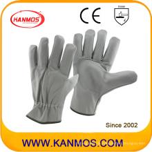 Light Color Furniture Leder Industriesicherheit Fahrer Handschuhe (31015)