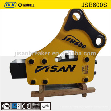 JSB1600S modelo JISAN marca excavadora hidráulica martillo para 20-25 toneladas excavadora