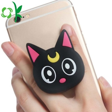 Cartoon Animal Cat Silicone mobiele gsm-houder