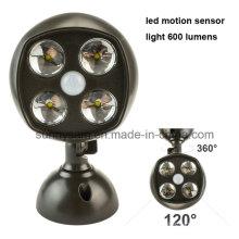 Luces LED de 4 sensores de movimiento de emergencia para garaje con cofre de interior