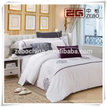 Customized Tamanho Disponível Embroideried Linho Bedding Set