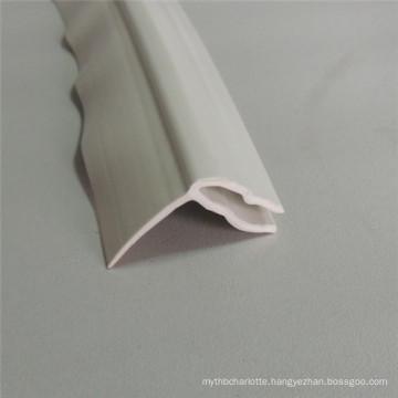 White PVC Profile Extrusion Garage Door Bottom Seal