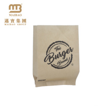 Wholesale Food Grade Greaseproof Custom Brown Small Wax Coated Kraft Paper Bags For Hamburger