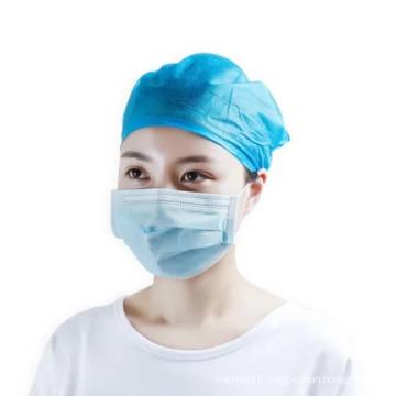 Couvre-chef Bouffant de couverture de tête non-tissée chirurgicale médicale jetable