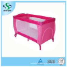 Cama plegable caliente del juego del bebé de la venta con la segunda capa (SH-A13)