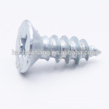 Flat Head White Zinc Plated Steel Cross-Headed Drywall Screw