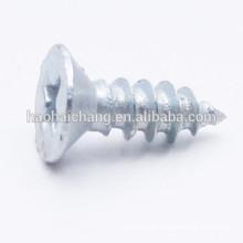 Parafuso de Drywall de cabeça chata Aço chapeado de zinco branco cabeça chata