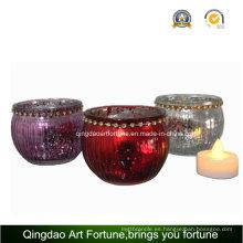 Electroplate mercurio jarra de vidrio para casa decoración navideña jarra
