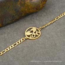 Bracelet en or Bracelet Khazana Bijoux Bracelet en forme de femme Wonder