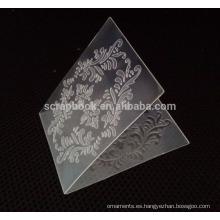 2015 plástico artesanías carpeta de grabación en relieve para la fabricación de la tarjeta