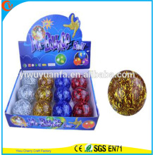 Высокое качество детские игрушки резиновая 65мм длинные блестками строку воде надувной мяч