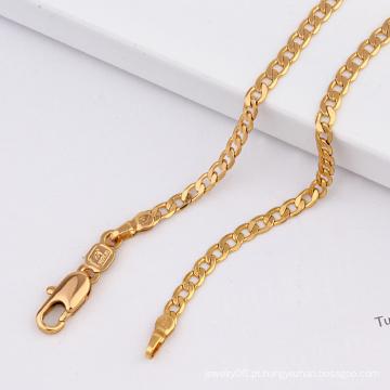 Moda 18k colar banhado a ouro