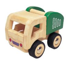 Carro de brinquedo de caminhão de cimento de madeira crianças