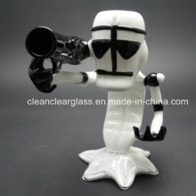 New Design Armed Gun Glass Pipe Smoking Pipe Heady Bubbler Wholesale